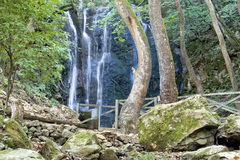 Amazing waterfalls, Strumica, Macedonia. Ecological clean environment, waterfall among trees and stones in Kolesino, Strumica, Macedonia Stock Photography