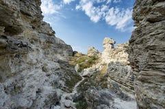 Amazing weathering rocks Royalty Free Stock Photos