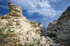 Amazing weathering rocks Stock Images