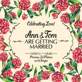 Amazing wedding invitation in watercolor vector illustration Royalty Free Stock Photos