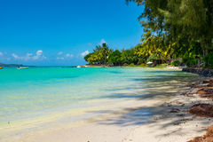 Amazing white beaches of Mauritius island. Tropical vacation Royalty Free Stock Photos