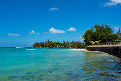 Amazing white beaches of Mauritius island. Tropical vacation Royalty Free Stock Photography