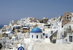 Amazing white houses of Santorini Stock Photos
