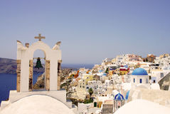 Amazing white houses of Santorini Royalty Free Stock Image