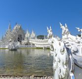 Amazing White Temple of Chiang Mai Royalty Free Stock Photos