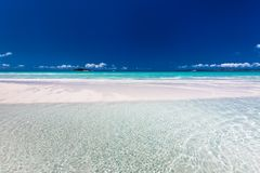 Amazing Whitehaven Beach in the Whitsunday Islands, Queensland, Royalty Free Stock Images