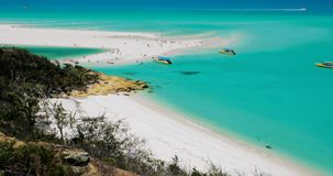 Amazing Whitehaven Beach in the Whitsunday Islands, Queensland, Australia stock video footage