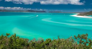 Amazing Whitehaven Beach in the Whitsunday Islands, Queensland, Australia. Amazing famous Whitehaven Beach in the Whitsunday Islands, Queensland, Australia stock footage