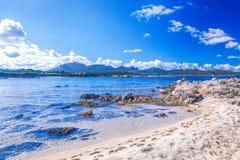 Amazing wild Capriccioli beach on Sardinia island, Costa Smeralda, Italy Stock Photos