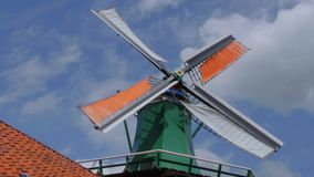 Amazing wind mill - typical view on a sunny day stock video