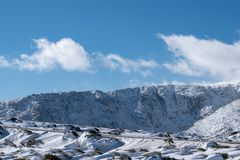 An amazing winter landscape royalty free stock photography
