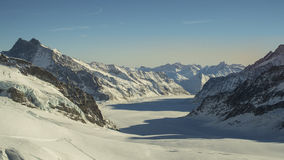 Amazing winter landscape Jungfraujoch, top of Europe Royalty Free Stock Images