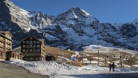 Amazing winter landscape Jungfraujoch, top of Europe Royalty Free Stock Photos