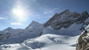 Amazing winter landscape Jungfraujoch, top of Europe Royalty Free Stock Photography