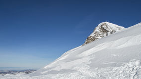 Amazing winter landscape Jungfraujoch, top of Europe Stock Photography