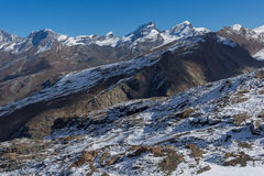 Amazing winter view of Swiss Alps, Canton of Valais Stock Image