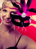 Amazing woman with carnival mask. Stock Images