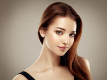 Amazing woman portrait. Beautiful girl model fashion Royalty Free Stock Photo