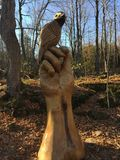 Amazing wood sculpture. Forest native Royalty Free Stock Photography
