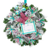 Amazing xmas wreath. Christmas wreath. Hand made ornament with place for text Royalty Free Stock Photo