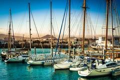 Amazing yacht bay Stock Photo