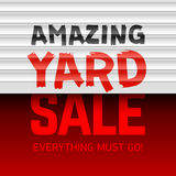 Amazing Yard Sale poster Royalty Free Stock Photos