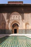 Amazingly beautiful Ali Ben Youssef Madrassa, Marrakesh Stock Image