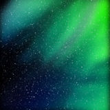 Amazingly beautiful colors of the Northern lights. Stock Photo