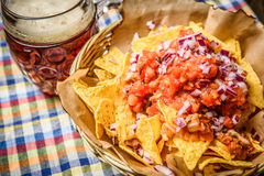 Amazingly served nachos Royalty Free Stock Image