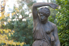 Amazon bronze statue, close. Amazon bronze statue in athens, greece Royalty Free Stock Photo