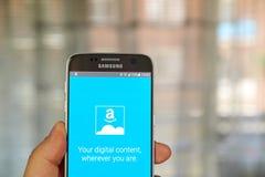 Amazon Cloud Drive app foto de archivo