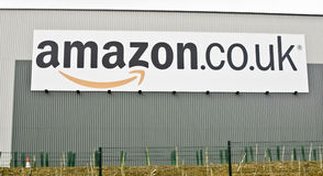 amazon Co armazém britânico Fotografia de Stock