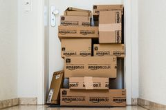 Amazon.com delivery Royalty Free Stock Image