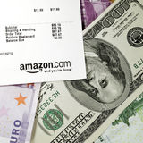 Amazon.com invoice Stock Photos