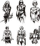 amazon cyborgi royalty ilustracja
