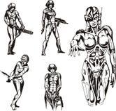 amazon cyborgi Obrazy Royalty Free