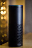 Amazon Echo voice recognition stock photos