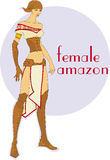 Amazon fêmea Imagem de Stock Royalty Free