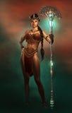 Amazon femminile, 3d CG illustrazione di stock