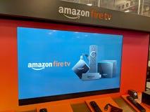 Amazon Fire TV Display inside Best Buy Store. Honolulu - September 7, 2018: Amazon Fire TV Display inside Best Buy Store. Amazon Fire TV is a digital media stock photo