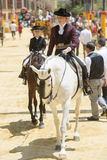 Amazon on horseback at the Jerez fair Stock Photo
