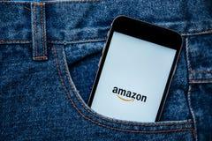 Amazon il più grande rivenditore di Internet negli Stati Uniti Fotografie Stock Libere da Diritti