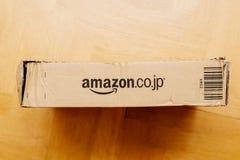 Amazon Japan parcel cardboard Stock Photos