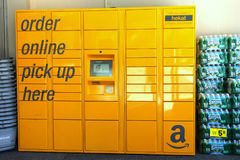 Amazon Locker stock image