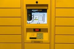 Amazon locker located inside a store in San Francisco bay area stock photo