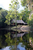 Amazon lodge by boat Stock Photos