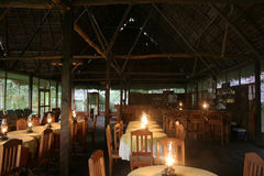 Amazon Lodge Dining Room Royalty Free Stock Images