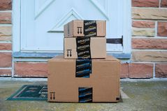 Amazon packages Royalty Free Stock Photography