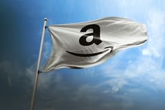 Amazon photorealistic flag editorial royalty free stock photos