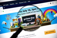Amazon prime day page on official amazon site Royalty Free Stock Image
